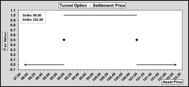 Tunnel Option Settlement Value